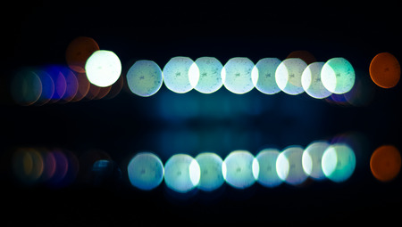 Abstract circular bokeh background.with reflection. Stock Photo
