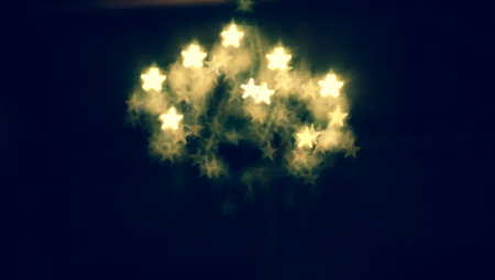 Abstract star shapes bokeh background.