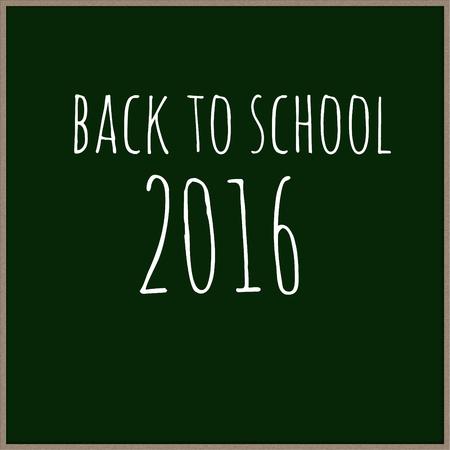 Back To School 2016 Text Written on chalkboard.