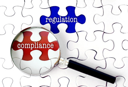 Magnifying Glass Searching Missing Puzzle Regulation And Compliance.