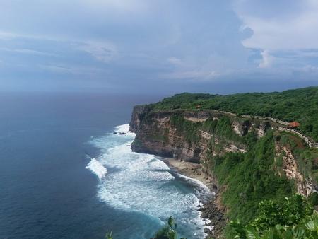 Uluwatu temple cliff,bali,indonesia. Stock Photo