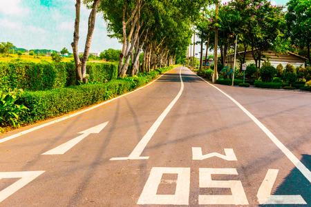 no movement: Long road. The road asphalt