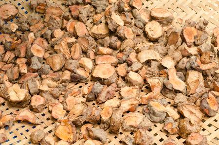 chicory coffee: herbal medicine - dry ingredient licorice root Stock Photo
