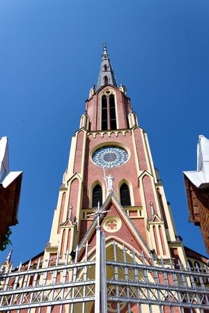 Exterior of Trinity church. Gervyaty, Belarus.