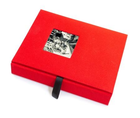 red wedding album. isolated. white background.