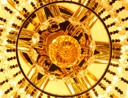 yellow chandelier Stock Photo