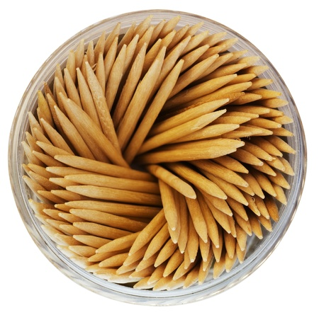 toothpicks in the bank on a white background