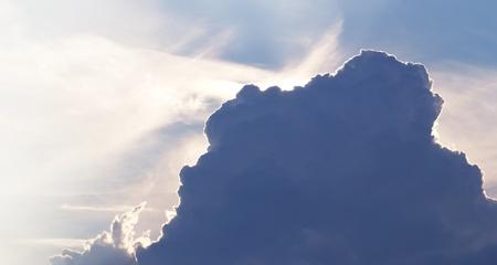 a large dark cloud Stock Photo