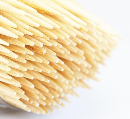 group toothpicks. macro Stock Photo