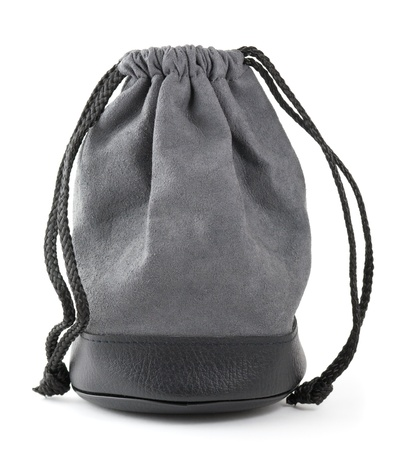 black bag on a white background. closeup