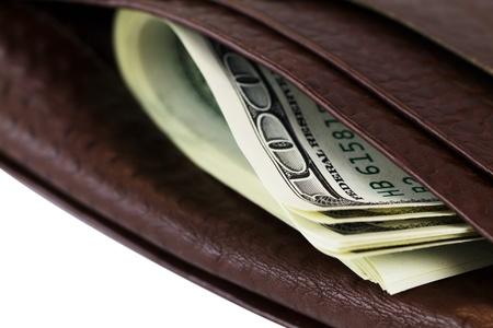 purse on a white background. closeup Stock Photo