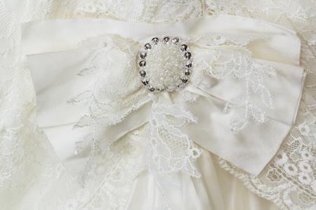 brooch for a wedding dress. closeup photo