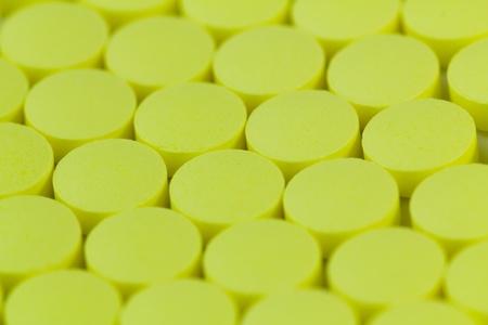 pile caps closeup on white background