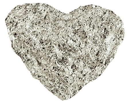 heart of the foil on a white background