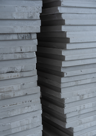 background of building materials - tongue-and-groove gypsum blocks Фото со стока
