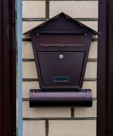 beautiful mailbox in a private house Stockfoto