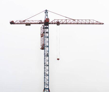 large crane against the sky Zdjęcie Seryjne