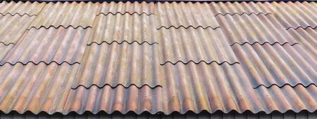 tiled roof of a country house