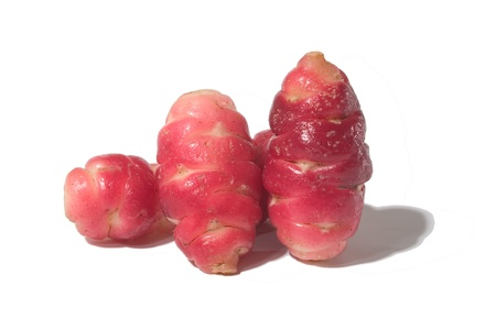 starchy food: three Oxalis tuberosa, okka of Peru