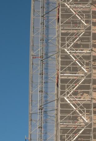 scaffolding: a big scaffolding on a big blue sky