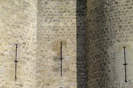 medioevo: Fortezza del Medioevo in Francia Archivio Fotografico