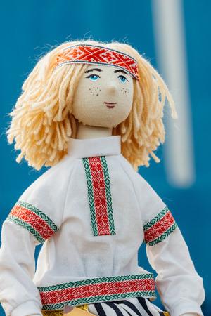 rag doll: Beautiful rag doll boy. Folk, National souvenir from Belarus