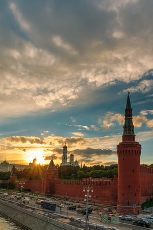 Kremlin and St. Ivan the Great during a beautiful sunset