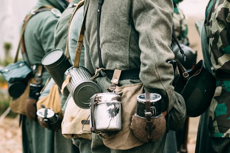 reenactmant: A pot, a jar and a form of the German soldier