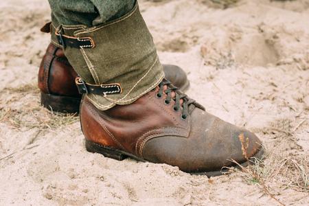 karabiner: German Military boots. The Second World War