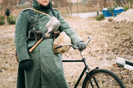 reenactmant: Uniform of a German soldier World War II