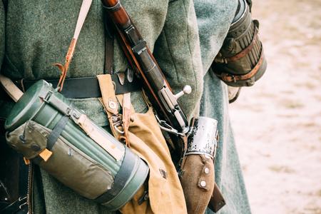reenactmant: Elements of equipment of a German serviceman