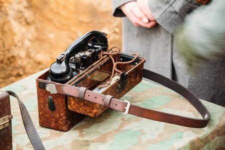 Military Communications Device Germany World War II Stock Photo