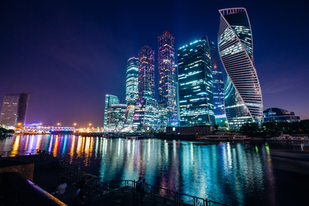 Nice view of the night Moscow
