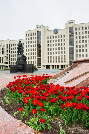 Lenin Monument at the Government House in Belarus