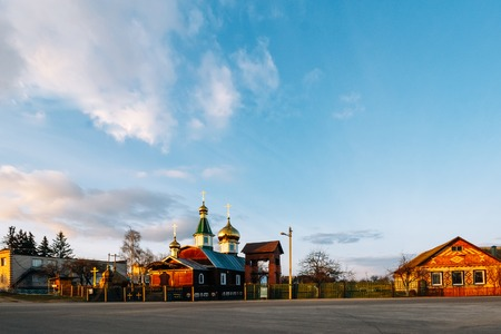 Orthodox Christian Church of St. Nicholas in Pokolyubichy in Bel Stock Photo