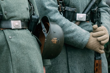 Uniforms helmet soldier germany second world war 版權商用圖片