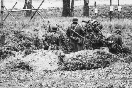 Machine-gun crew  soldiers, Germany