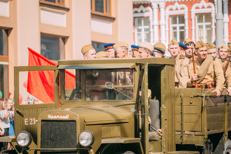 Military truck since the Second World War with the Red Army sold Redactioneel