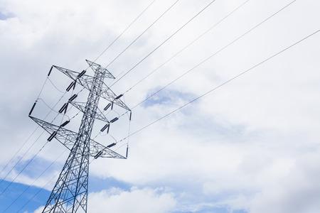 megawatt: High voltage post in sunny day