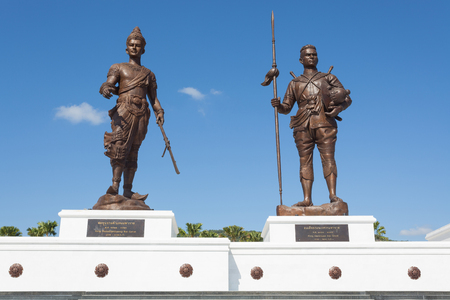 adulyadej: Hua Hin, THAILAND - November 18,2015: Ratchapak Park and the statues of seven former Thai kings were constructed by the Royal Thai Army under royal permission from His Majesty King Bhumibol Adulyadej.