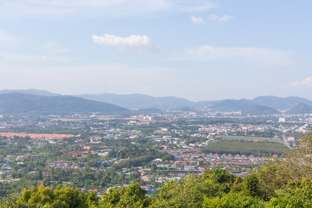 city park boat house: Phuket Town top view from Khao Kad hill