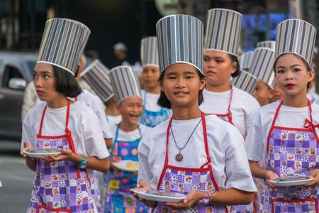 18th: Phuket, Thailand - February 2, 2017: Parade of  18th Phuket chinese new year day and old Phuket town Festival in Phuket, Thailand Editorial