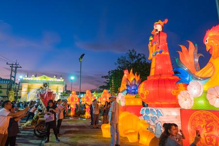 Phuket, Thailand - February 2, 2017: Chinese new year model of 18th Phuket chinese new year day and old Phuket town Festival in Phuket, Thailand