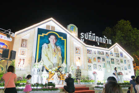 18th: Phuket, Thailand - February 2, 2017: Gallery of king Bhumibol Adulyadej in18th Phuket chinese new year day and old Phuket town Festival in Phuket, Thailand Editorial