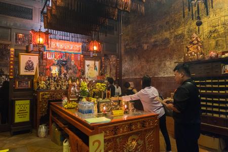 Phuket, Thailand - February 2, 2017: Sang Tham Shrine in 18th Phuket chinese new year day and old Phuket town Festival in Phuket, Thailand Editorial