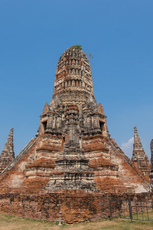 phra nakhon si ayutthaya: Wat Chaiwatthanaram, the historical Park of Ayutthaya, Phra Nakhon Si Ayutthaya, Thailand
