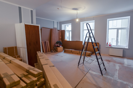 Interior of apartment  during on the renovation and construction