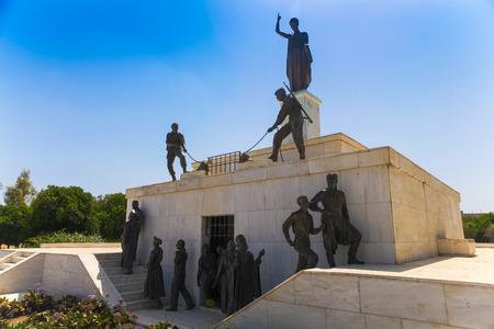 NICOSIA, CYPRUS - MAY 30, 2014 : View on The Liberty Monument  is a monument in the city of Nicosia in Cyprus.