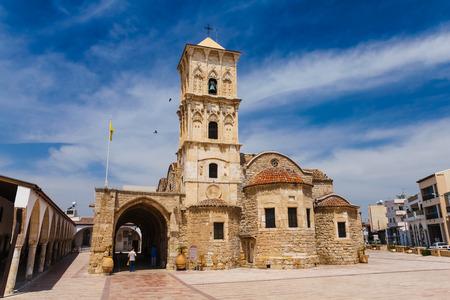 lazarus: Larnaca, Cyprus, - May 29, 2014: View on The Orthodox church of Saint Lazarus in Larnaca