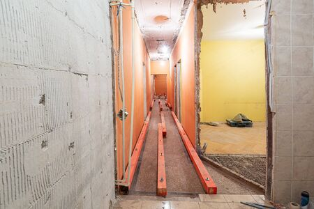 Apartment or room is under construction, remodeling, renovation, overhaul, extension, restoration and reconstruction. Concept of total home improvement. 写真素材